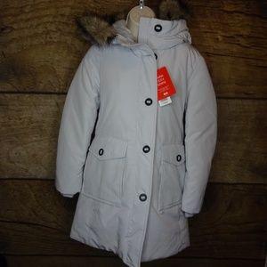 Uniqlo  XS Warm Tech Down Coat Fur Parka Winter